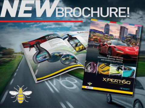 New A4 size super quality Xpert-60 brochure with a full listing of products and merchandise
