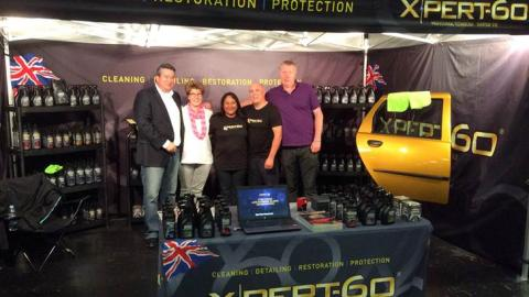 Xpert-60 team on the stand at Waxstock