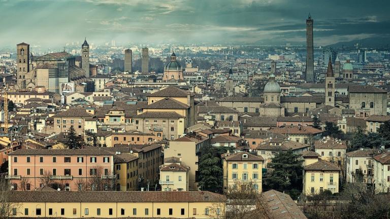 Bologna Italy - overcast skies